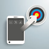 Smartphone Arrow Target Royalty Free Stock Photo