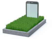 Smartphone as a gravestone Stock Images