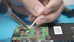 Smartphone assembling in repair shop
