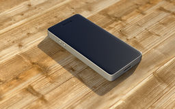 Smartphone auf einem Schreibtisch stock abbildung