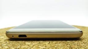 Smartphone auf einem weißen Hintergrund Lizenzfreies Stockbild