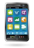 Smartphone avec des graphismes Image stock