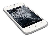 Smartphone avec l'écran cassé photos libres de droits