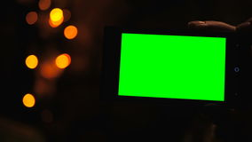 Smartphone avec l'écran vert Photo libre de droits