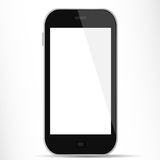 Smartphone avec l'affichage blanc Photographie stock