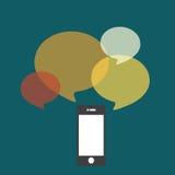 Smartphone avec la citation buble Images libres de droits