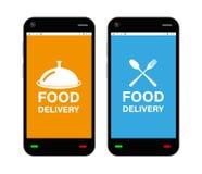 Smartphone avec le logo d'application de la livraison de nourriture sur l'écran Photos stock