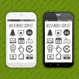 Smartphone avec le Web et les icônes mobiles d'application sur l'écran illustration libre de droits