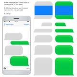 Smartphone avec les zones de dialogue vides Photos stock