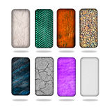 Smartphone back covers. On white background Royalty Free Stock Image