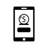 Smartphone with banking app Stock Images