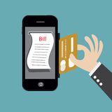 Smartphone Banking online. Royalty Free Stock Photography