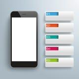 Smartphone 5 Bannerlusjes vector illustratie