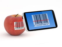 Smartphone Barcode Scanner Concept Stock Photography