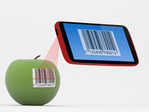 Smartphone Barcode Scanner Concept Royalty Free Stock Image
