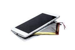 Smartphone bateryjna nabrzmiałość Zdjęcie Royalty Free