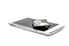 Smartphone bateryjna nabrzmiałość Fotografia Stock