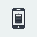 smartphone battery icon website seo flat design, gadget icon Royalty Free Stock Photo