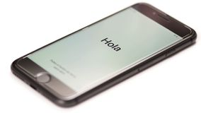 Smartphone begint eerst stock footage