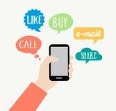Smartphone begrepp - kommunikation Royaltyfri Fotografi