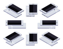 Smartphone bianco generico isometrico Fotografia Stock