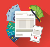 Smartphone bills document paymet financial item iconra Stock Photo