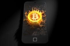 Smartphone Bitcoin Cloner Стоковые Фото