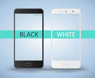 Smartphone black and white Stock Images
