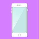 Smartphone blanc Photographie stock
