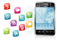 Smartphone with a blank place for icon Stock Photo