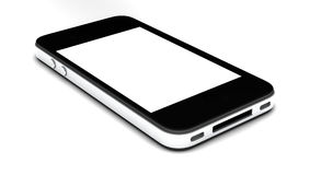 Smartphone With Blank Screen Isolated Royalty Free Stock Image