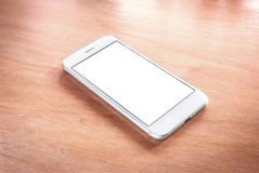 Smartphone with blank screen. Stock Photo