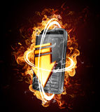 Smartphone with blazing speed Stock Photo