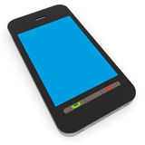 Smartphone with blue screen. Stock Images