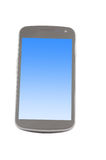 Smartphone with blue screen Royalty Free Stock Images