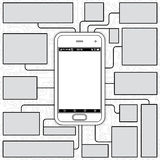 Smartphone Blueprint Royalty Free Stock Photos