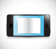 Smartphone and book illustration design Royalty Free Stock Image