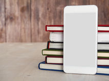Smartphone, books, reading app Stock Images