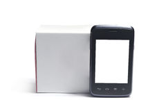 Smartphone and box Stock Photos
