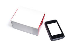 Smartphone and box Royalty Free Stock Image