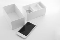 Smartphone with box Stock Images