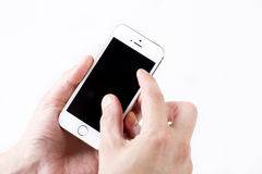 Smartphone branco Fotos de Stock Royalty Free