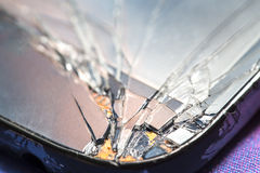Smartphone with broken screen. Royalty Free Stock Images