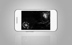 Smartphone with broken screen Stock Photography