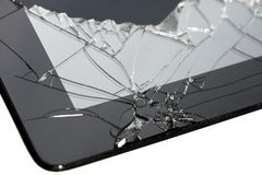 Smartphone with broken screen stock photos