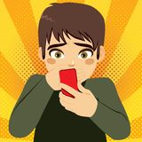 Smartphone Bullying Teenager Boy Royalty Free Stock Image