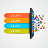 Smartphone business concept infographic. Royalty Free Stock Photo