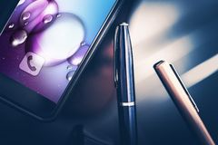 Smartphone in Business royalty free stock photography