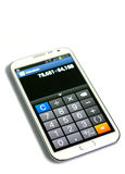 Smartphone calculator function Royalty Free Stock Photography