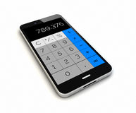 Smartphone calculator render Royalty Free Stock Photo